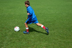 Football player. Young football player Stock Photography