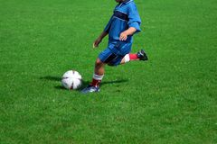 Football player. Young football player Royalty Free Stock Photography
