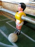 Football player 2. Figure of a football player from a game table Stock Photography
