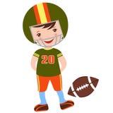 Football player. An illustration of little football player Stock Photos