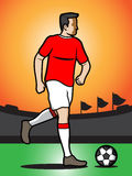 Football player. An illustration of a football soccer player Stock Images