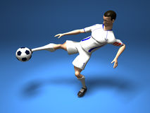 Football player. Soccer player, 3d generated Royalty Free Stock Photography