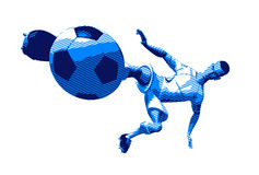Football player. Soccer player, 3d generated Stock Photos