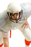 Football Player. American football player. Three point stance stock images