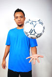 Football Player. A male football player. Portrait studio shot Stock Image