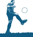 Football Player. Portrait of the male football or soccer player royalty free illustration