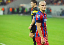 Football player Alexandru Bourceanu dissapointment reaction during Champions League game Royalty Free Stock Image