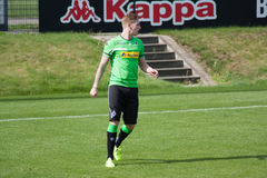 Football player Andre Hahn in dress of Borussia Monchengladbach Royalty Free Stock Photography