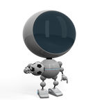 Football player with ball. Robot football player posing with ball Royalty Free Stock Photos