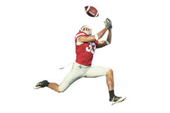 Football Player with Ball Stock Photo