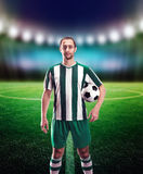 Football-player with a ball Stock Image