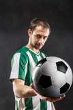 Football-player with a ball Royalty Free Stock Images