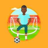 Football player with ball vector illustration. Royalty Free Stock Photos