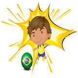 A football player from Brazil Royalty Free Stock Photography