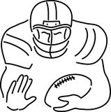 Football Player Cartoon royalty free stock photo
