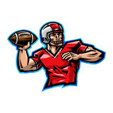 Football Player Cartoon Stock Photography