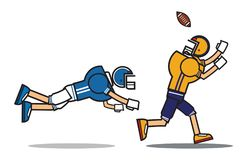 Football player cartoon character Royalty Free Stock Photos