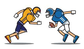 Football player cartoon character Stock Photography
