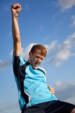 Football player celebrating Royalty Free Stock Photography