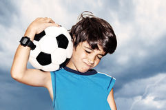 Football player celebrating victory Royalty Free Stock Photography
