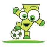 Football player character Royalty Free Stock Photo