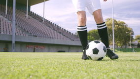 Football player controlling the ball stock video footage