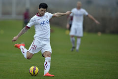 Football player - Cristian Sapunaru. Football player, Cristian Sapunaru of Rapid Bucharest (Romania) pictured in action during the friendly game between his team Royalty Free Stock Image