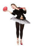 Football player or dancer doubt Royalty Free Stock Images