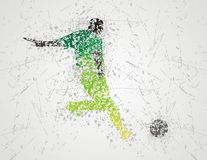 Football player design Stock Photography