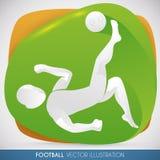 Football Player doing a Bicycle Kick, Vector Illustration Royalty Free Stock Image