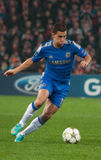 Football player Eden Hazard. During the match between Shakhtar (Donetsk, Ukraine) vs Chelsea (London, England) October 23, 2012. Donetsk. Donbass Arena. UEFA Royalty Free Stock Photography