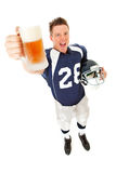 Football: Player Excited For Beer Stock Photography