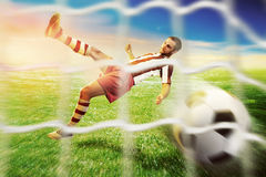 Football-player on the  football ground Stock Photography