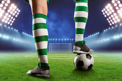 Football-player on the  football ground Royalty Free Stock Image