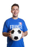 Football player from France is ready for the game Stock Photo