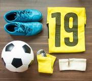 Football Player Gears. Top View Football Player Gears Stock Photos