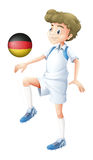 A football player from Germany Royalty Free Stock Images