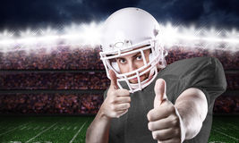 Football Player on gray uniform in the stadium Royalty Free Stock Image