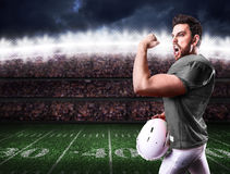 Football Player on gray uniform in the stadium Royalty Free Stock Photography