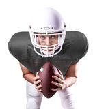 Football Player on gray uniform on white background Stock Image