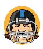 Football player in helmet Stock Image