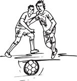 Football player illustration Stock Photos