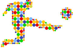 Football player, join the dots Stock Images