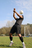 Football player juggling Royalty Free Stock Photo