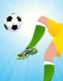 Football player jumping Stock Images