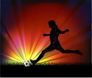 Football player - kick Stock Photos