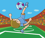 Football Player - Kick on air. Illustration of a football player doing kick on air. Available in well layered vector eps 8 Royalty Free Stock Photos