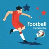 Football Player Kick Ball Sport Championship Stock Image