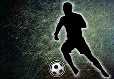 Football player kicking a ball, illustration. Stock Photography