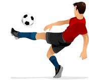 Football player kicks off. Vector illustration of a football player kicks off Royalty Free Stock Photos